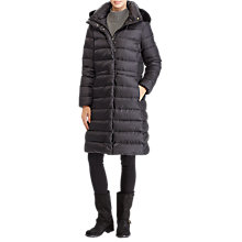 Buy Polo Ralph Lauren Quilted Hooded Down Coat, Polo Black Online at johnlewis.com
