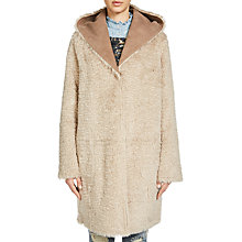 Buy Oui Reversible Faux Fur Coat, Camel Online at johnlewis.com
