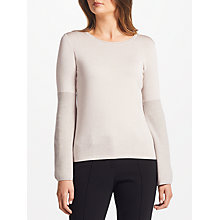 Buy Marc Cain Flared Sleeve Metallic Jumper, Sandstone Online at johnlewis.com