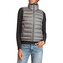 Buy Polo Ralph Lauren Packable Quilted Down Gilet, Magnum Grey Online at johnlewis.com