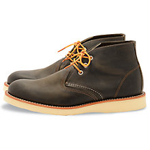 Buy Redwing Work Chukka Boots, Charcoal Online at johnlewis.com