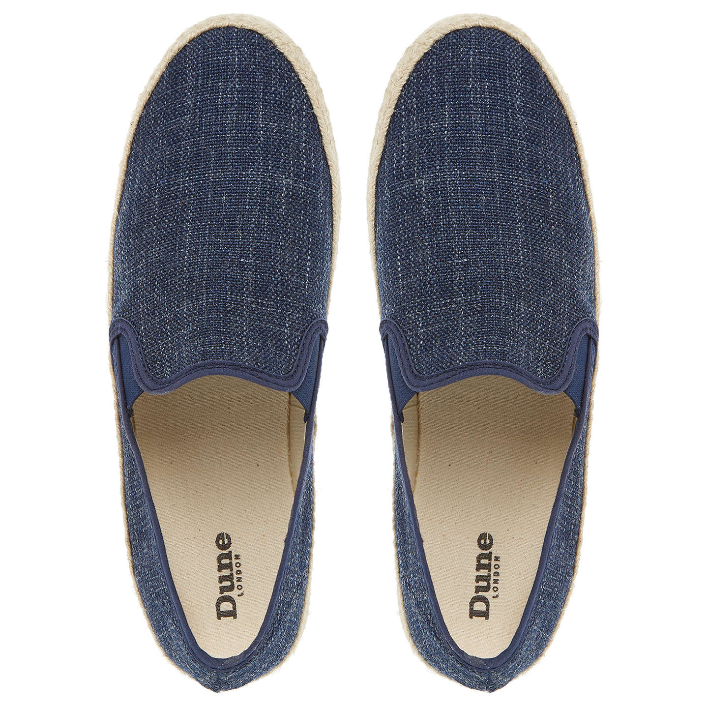 BuyDune Flipper Espadrilles, Navy, 7 Online at johnlewis.com