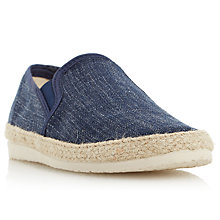 Buy Dune Flipper Espadrilles, Navy Online at johnlewis.com