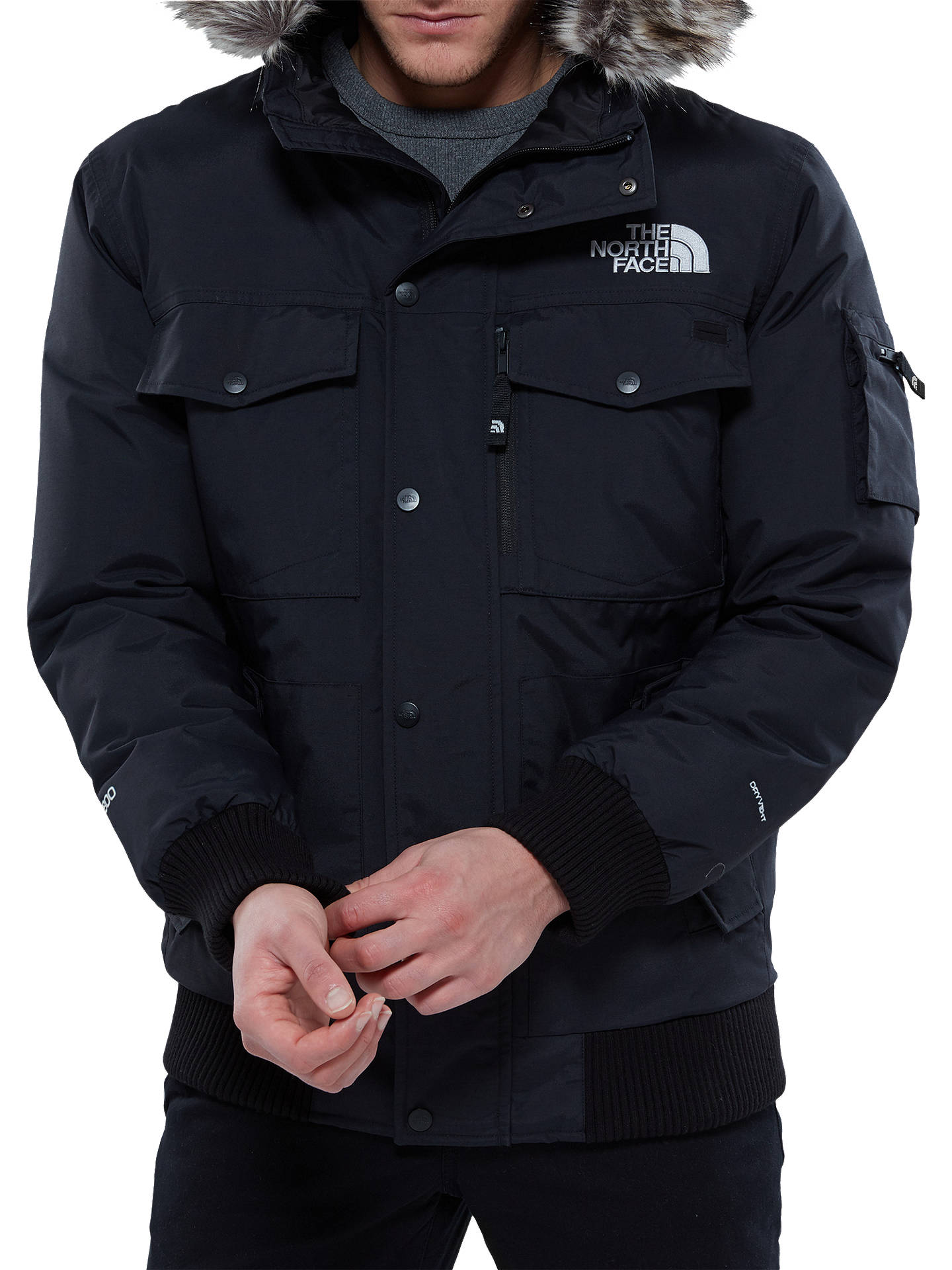 Buy The North Face Gotham Waterproof Men's Jacket, Black, S Online at johnlewis.com