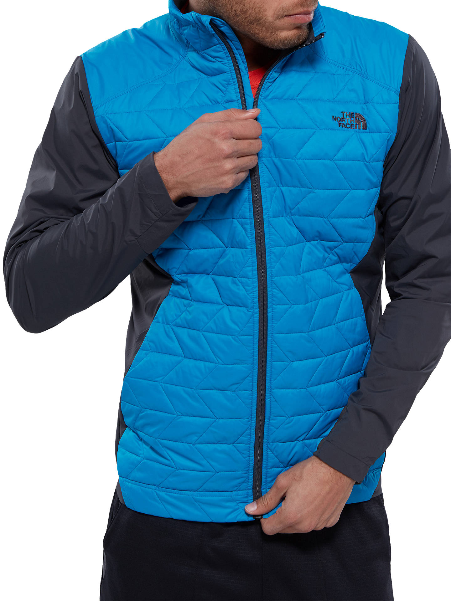 21ee437e8 The North Face Thermoball Active Men's Jacket, Blue at John Lewis ...