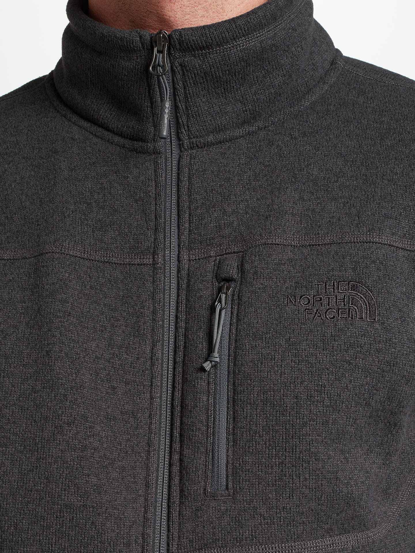 Buy The North Face Gordon Lyons Full Zip Men's Fleece Jacket, Grey, S Online at johnlewis.com