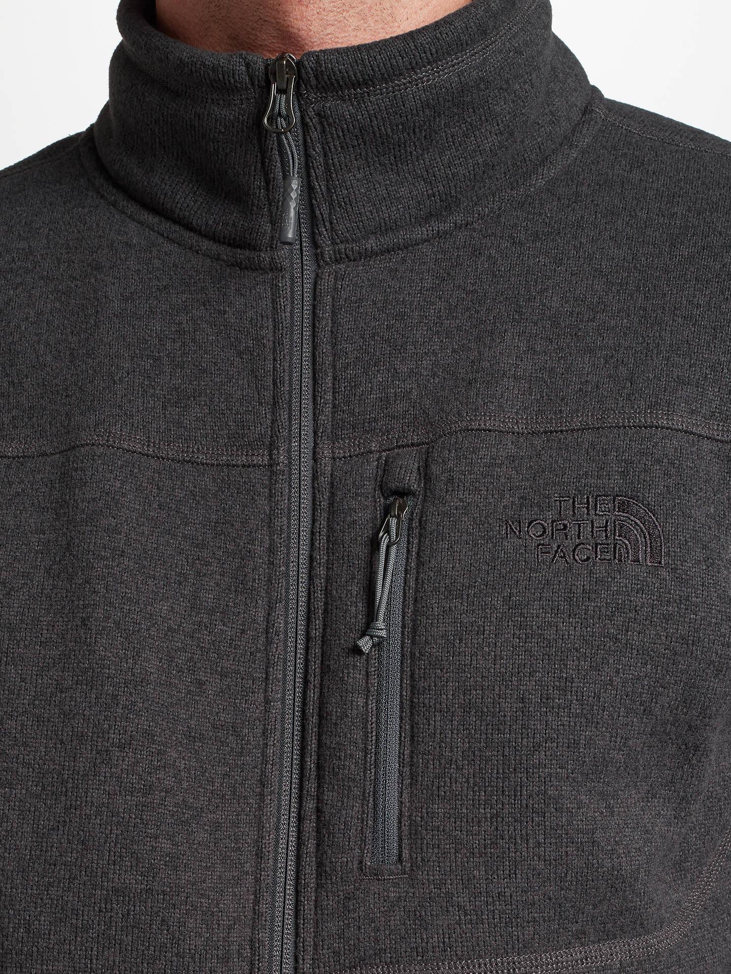 baadb8d81 The North Face Gordon Lyons Full Zip Men's Fleece Jacket, Grey at ...