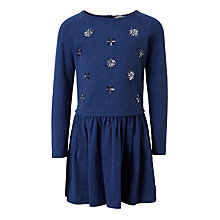 Buy John Lewis Girls' Star Sequin Dress, Navy Online at johnlewis.com