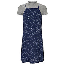 Buy John Lewis Girls' Spot Cami Dress Outfit, Navy Online at johnlewis.com