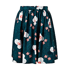 Buy John Lewis Girls' Large Floral Print Skirt, Green Online at johnlewis.com