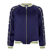 Buy John Lewis Girls' Cut and Sew Reversible Bomber Jacket, Navy Online at johnlewis.com