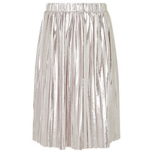 Buy John Lewis Girls' Pleated Skirt, Silver Online at johnlewis.com