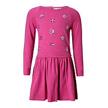 Buy John Lewis Children's Stars Sequin Dress, Berry Online at johnlewis.com