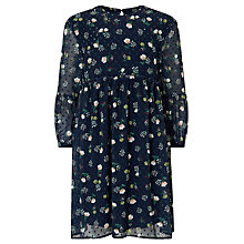 Buy John Lewis Chiffon Print Dress, Navy Online at johnlewis.com