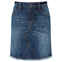 Buy John Lewis Girls' Denim Skirt, Navy Online at johnlewis.com