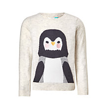 Buy John Lewis Girls' Penguin Jumper, Oatmeal Online at johnlewis.com
