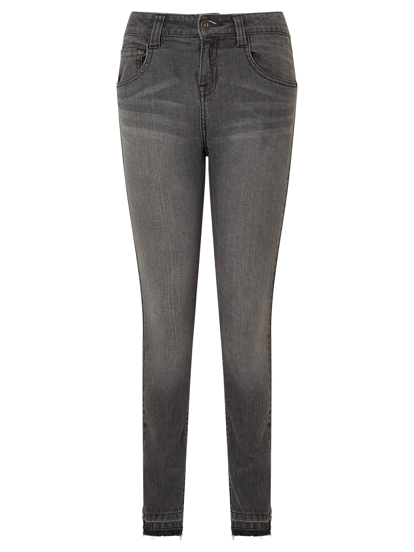 BuyJohn Lewis & Partners Girls' Distressed Jeans, Grey, 8 years Online at johnlewis.com