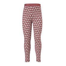 Buy John Lewis Girls' Floral Print Leggings, Plum Online at johnlewis.com