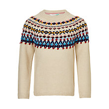 Buy John Lewis Girls' Fair Isle Jumper, Cream Online at johnlewis.com