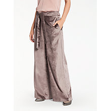 Buy Modern Rarity Velvet Trousers, Taupe Online at johnlewis.com