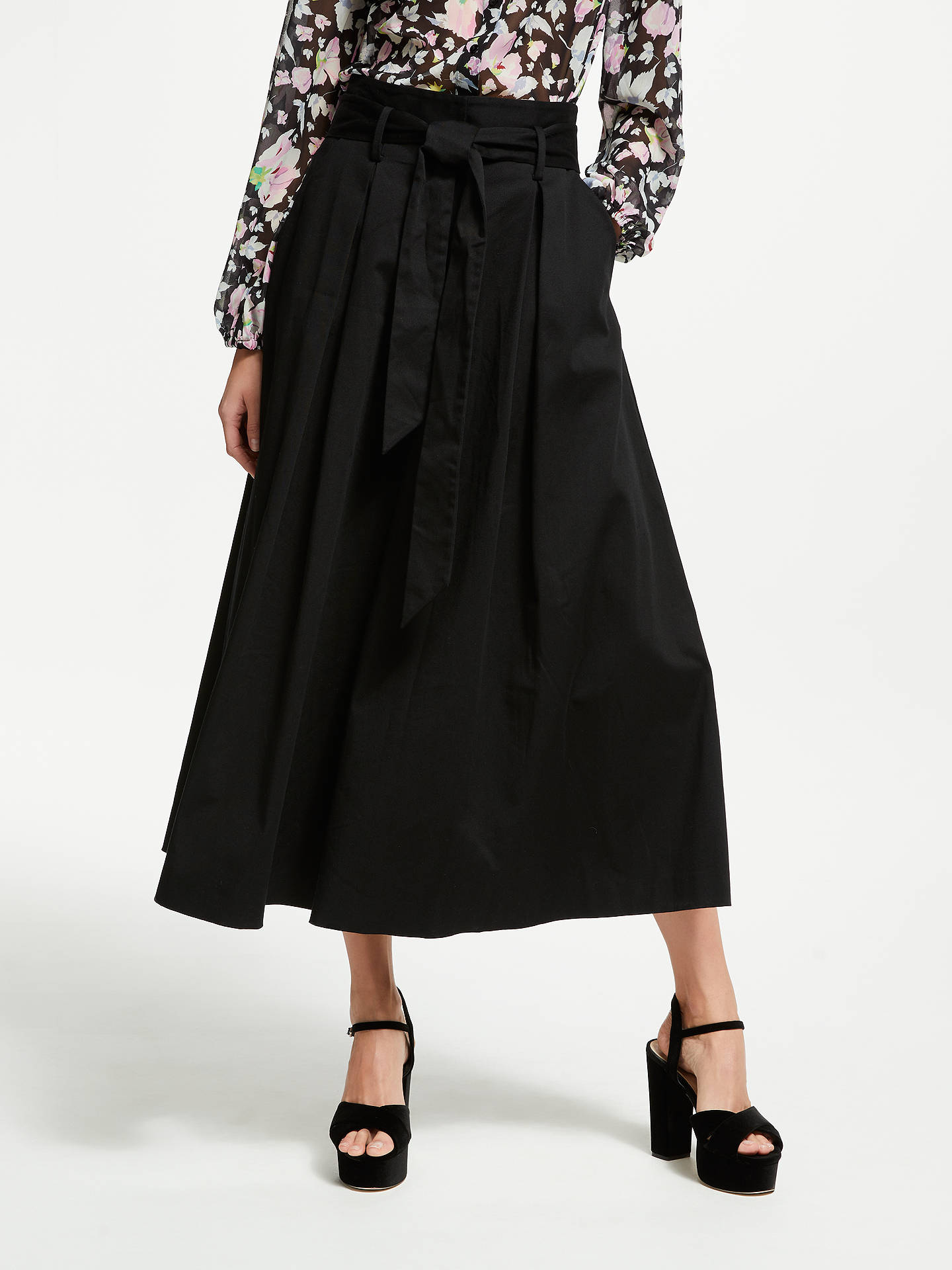 Buy Somerset by Alice Temperley Tie Waist Culottes, Black, 8 Online at johnlewis.com