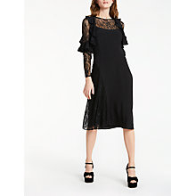 Buy Somerset by Alice Temperley Lace Insert Dress, Black Online at johnlewis.com