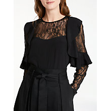 Buy Somerset by Alice Temperley Lace Insert Top, Black Online at johnlewis.com