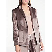 Buy Modern Rarity Velvet Jacket, Taupe Online at johnlewis.com