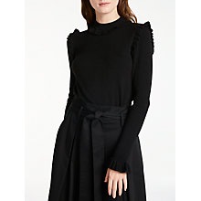 Buy Somerset by Alice Temperley Frill Seam Knit Jumper, Black Online at johnlewis.com