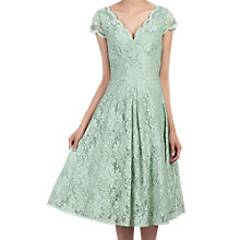 Buy Jolie Moi Cap Sleeve Scalloped Lace Dress, Light Green Online at johnlewis.com