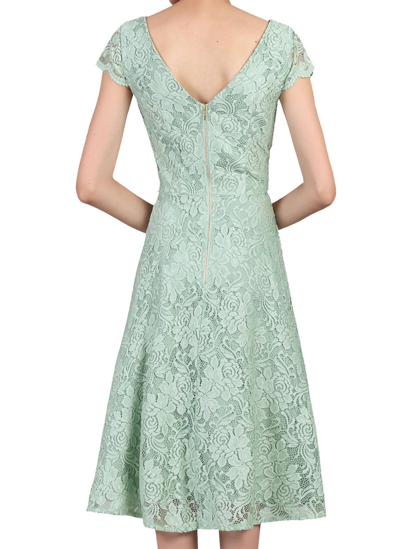 61f2a5937 ... Buy Jolie Moi Cap Sleeve Scalloped Lace Dress, Light Green, 6 Online at  johnlewis ...