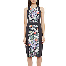 Buy Ted Baker Akva Kensington Floral Bodycon Dress, Black Online at johnlewis.com