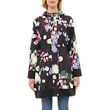 Buy Ted Baker Emmber Kensington Floral Print Parka, Black Online at johnlewis.com