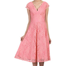 Buy Jolie Moi Cap Sleeve Scalloped Lace Dress Online at johnlewis.com