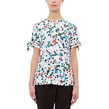 Buy Ted Baker Lande Paint Splash Print Blouse, Ivory Online at johnlewis.com