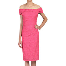 Buy Jolie Moi Lace Bonded Bardot Neck Dress Online at johnlewis.com