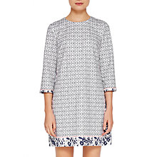 Buy Ted Baker Colour By Numbers Lealla Geo Floral Print Shift Dress, Mid Grey Online at johnlewis.com