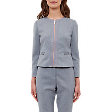 Buy Ted Baker Nadae Cropped Bow Detail Jacket, Mid Grey Online at johnlewis.com