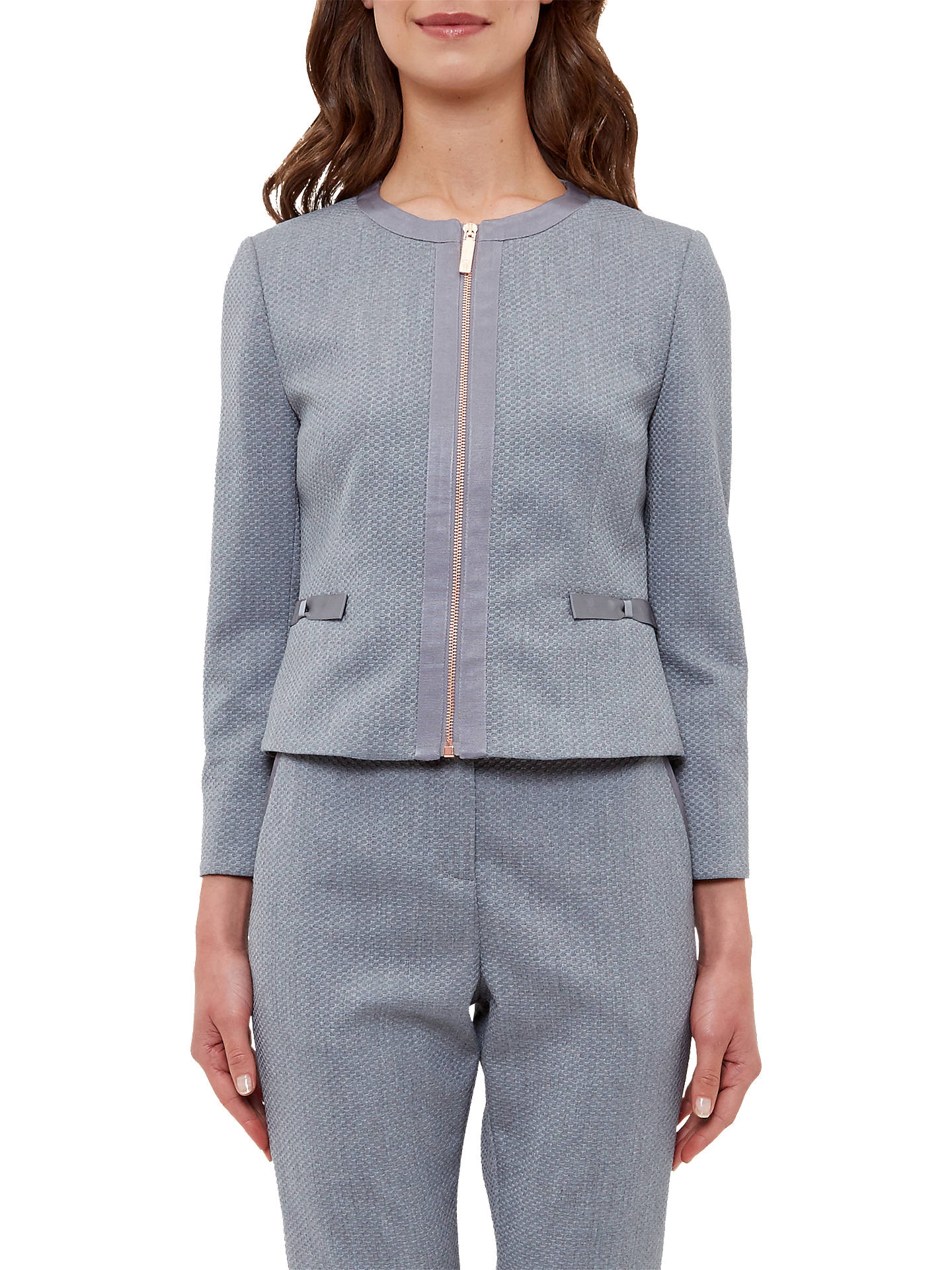1c5c4c51b930d7 Ted Baker Nadae Cropped Bow Detail Jacket at John Lewis   Partners