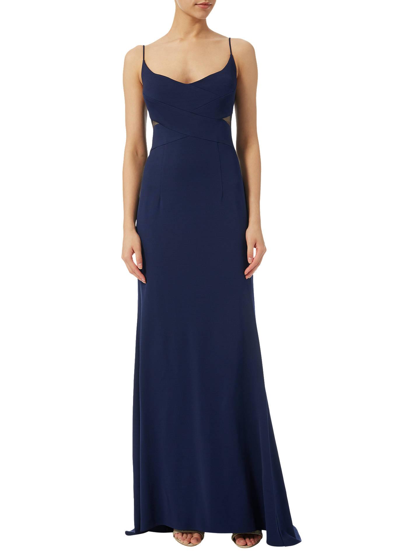 Adrianna Papell Sleeveless Mermaid Gown, Midnight Blue at John Lewis ...