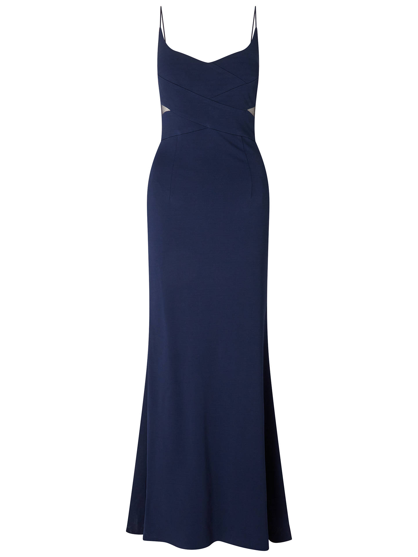 Adrianna Papell Sleeveless Mermaid Gown, Midnight Blue at John Lewis ...