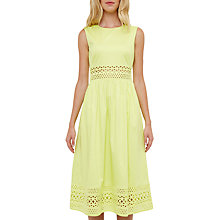 Buy Ted Baker Contrast Tim Dress, Mid Green Online at johnlewis.com