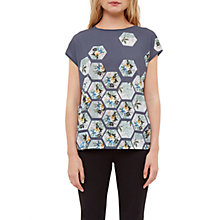 Buy Ted Baker Patchwork Talora T-Shirt, Grey/Multi Online at johnlewis.com
