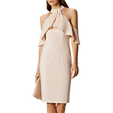Buy Karen Millen Draped Cold Shoulder Dress, Nude Online at johnlewis.com