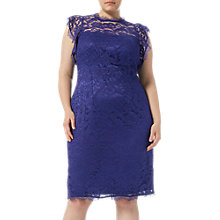 Buy Adrianna Papell Ruffled Sleeve Dress, Night Navy Online at johnlewis.com