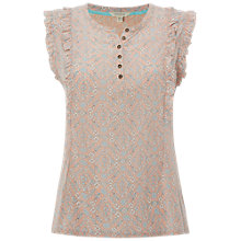 Buy White Stuff Frilly Sleeveless Jersey Shirt, Apricot Online at johnlewis.com