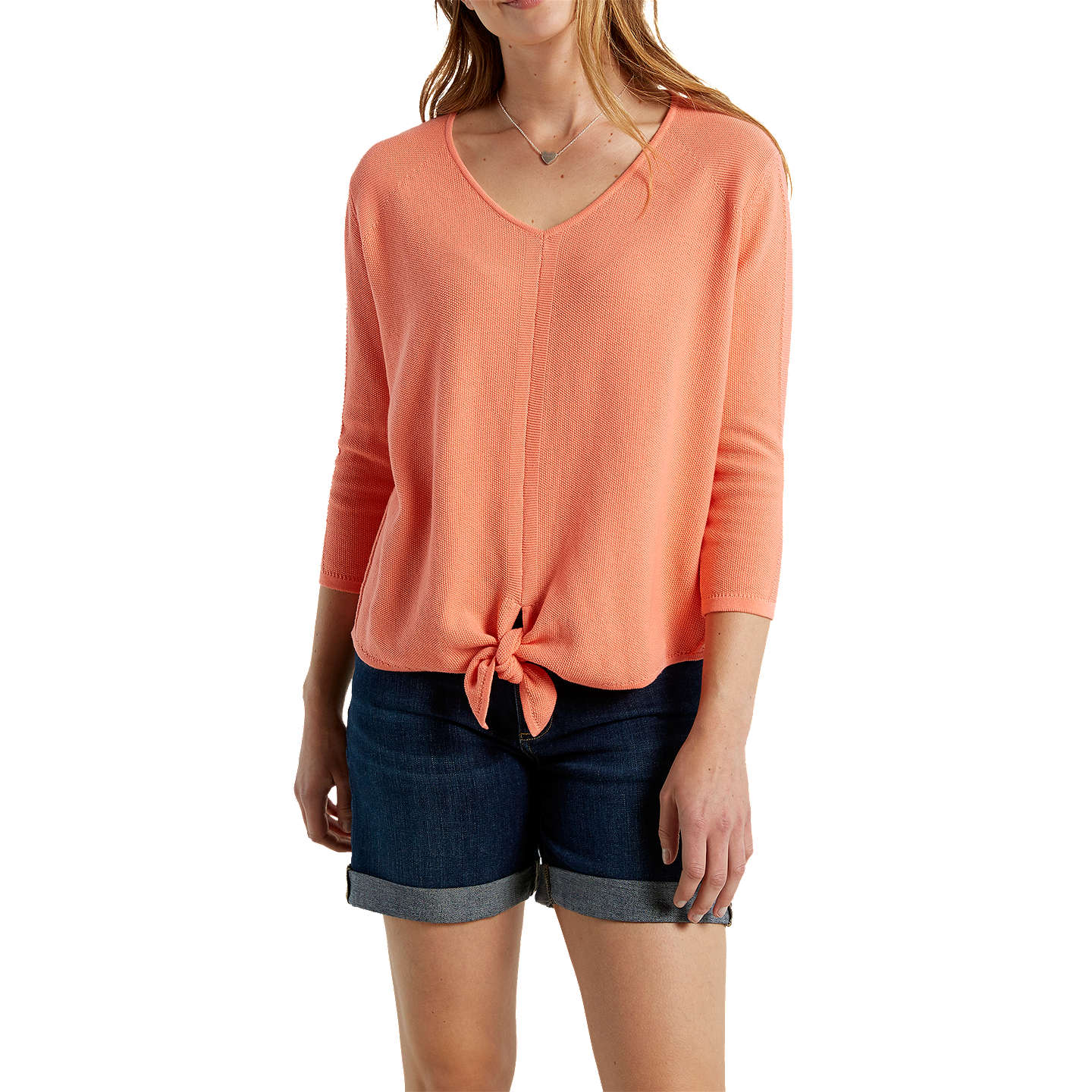 BuyWhite Stuff Canvas Tie Jumper, Apricot, 6 Online at johnlewis.com