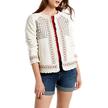 Buy White Stuff Vimara Trophy Cotton Jacket, White Online at johnlewis.com