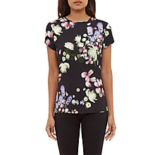 Buy Ted Baker Villeaw Kensington Fitted T-Shirt, Black Online at johnlewis.com