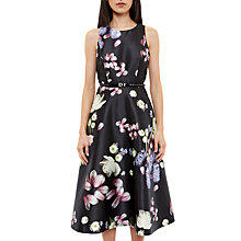 Buy Ted Baker Rosa Kensington Floral Midi Dress, Black Online at johnlewis.com